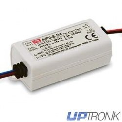 8W Single Output Switching Power Supply 5V~12V~24V, 1.4A~0.67A~0.34A