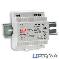 DR-30 DIN rail Power supply series 30W (5V, 12V, 15V, 24V)