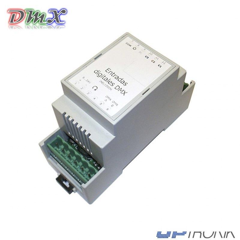 Entradas digitales control DMX