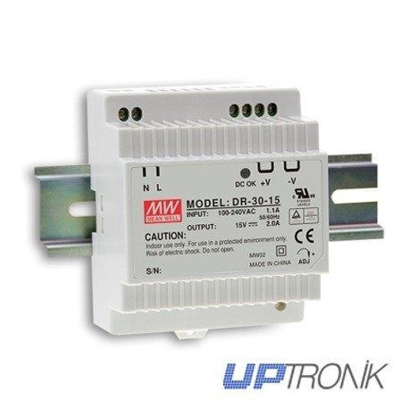 Fuente de alimentación carril DIN DR-30 series 30W (5V, 12V, 15V, 24V)